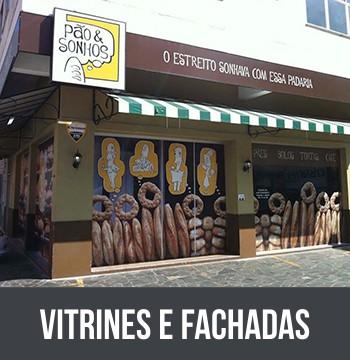 VITRINES E FACHADAS