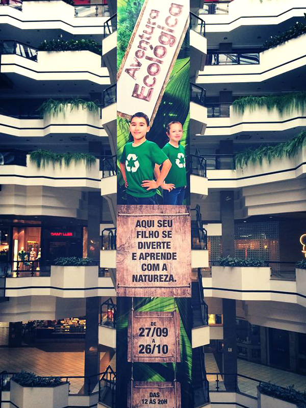 Banner aplicado no Beiramar Shopping.